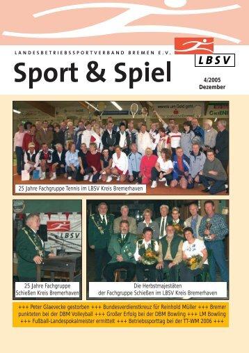 4/2005 Dezember 25 Jahre Fachgruppe Tennis im LBSV Kreis ...