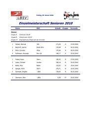 Einzelmeisterschaft Senioren 2010