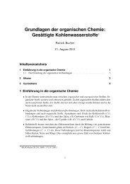Grundlagen der organischen Chemie: Gesättigte ... - paedubucher
