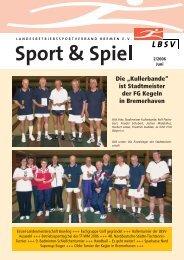 """Die """"Kullerbande"""" ist Stadtmeister der FG Kegeln in Bremerhaven"""