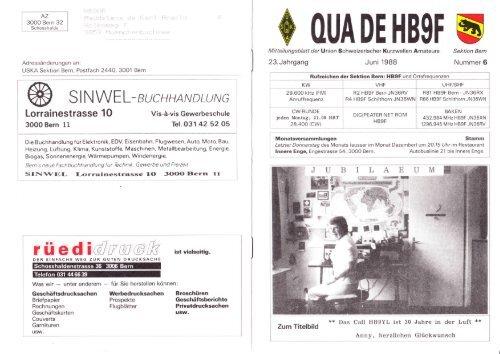 Juni 1988 - HB9F