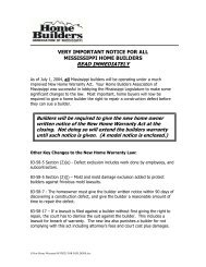 READ IMMEDIATELY - Home Builders Association of Mississippi