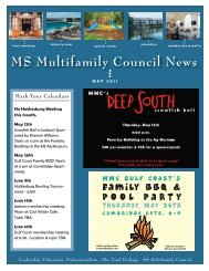 MS Multifamily Council May 2011