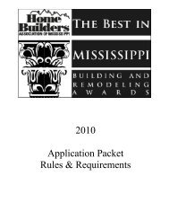 2010 Application Packet Rules & Requirements - Home Builders ...