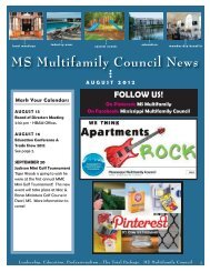 MS Multifamily Council August 2012