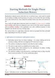 Starting Methods for Single-Phase Induction Motors