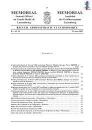 MEMORIAL Journal Officiel du Grand-Duché de ... - codefiscal