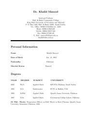 Dr. Khalid Masood Personal Information Degrees - Hafr Al-Batin ...