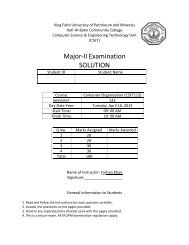 Major Exam 2 Solution - Hafr Al-Batin Community College(HBCC)