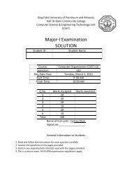 Major Exam 1 Solution - Hafr Al-Batin Community College(HBCC)