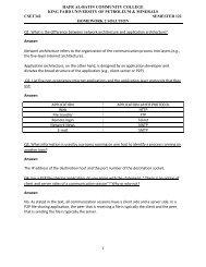 Homework 2 Solution - Hafr Al-Batin Community College(HBCC)