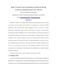 DEFECT-TOLERANT MULTI-CROSSPOINT ARCHITECTURE FOR ...