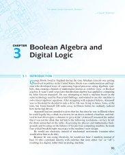 CHAPTER Boolean Algebra and Digital Logic