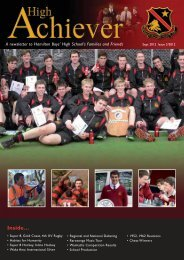 Current Newsletter - Hamilton Boys' High School