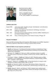 Dr. Martin Ko? Biochemie Zentrum (BZH) Im Neuenheimer ... - HBIGS