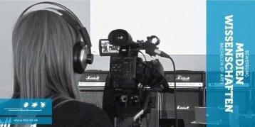 Bewerbung Medienwissenschaften