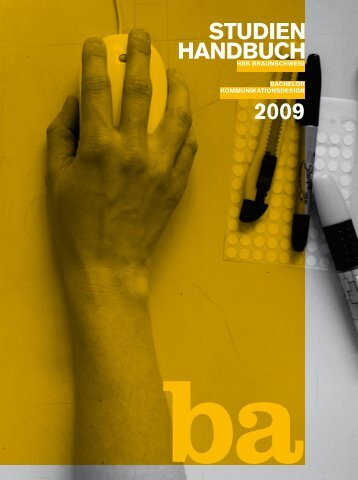 STUDIEN HANDBUCH 2009 - Hochschule für Bildende Künste ...