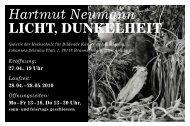 Licht, Dunkelheit - Hochschule für Bildende Künste Braunschweig