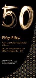Fifty-Fifty: Kunst- und Medienwissenschaften Er/Zählen
