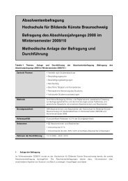 Ergebnisse 2009: Methodenbericht - Hochschule für Bildende ...