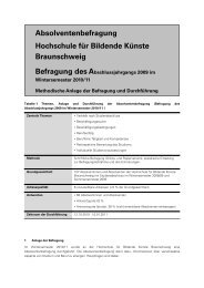 Methodenbericht - Hochschule für Bildende Künste Braunschweig