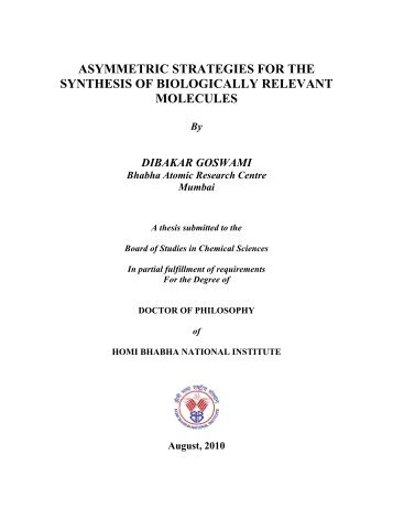 CHEM01200604012 Dibakar Goswami - Homi Bhabha National ...
