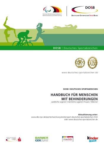 Handbuch Deutsches Sportabzeichen für Menschen mit ... - DBS