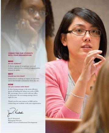 2010HBSMBARecruitRepo+ - Harvard Business School