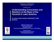 Understanding Consumers and Retailers at the Base of the Pyramid ...