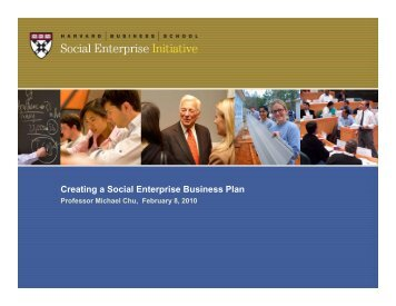 Developing SE Plan-20+ - Harvard Business School
