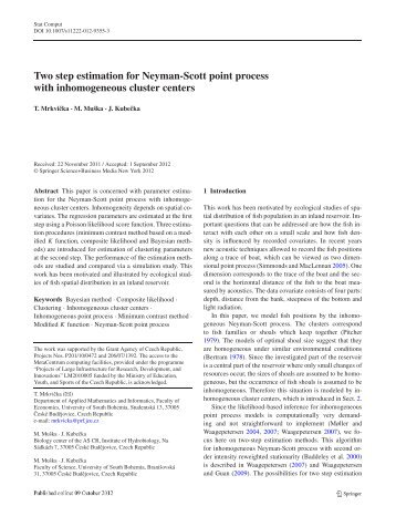 Two step estimation for Neyman-Scott point process with ...