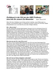 Zivildienst in der ISA bei der AWO Freiburg – eine Info für unsere ...