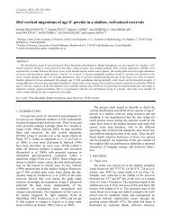 Diel vertical migrations of age 0+ percids in a shallow, well-mixed ...