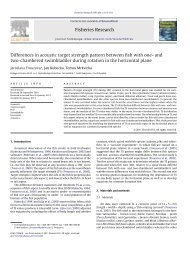 Differences in acoustic target strength pattern between fish with one ...