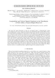 Longitudinal and Vertical Spatial Gradients in the Distribution of Fish ...
