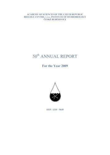 Annual Report 2009 - Institute of Hydrobiology