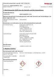 Sicherheitsdatenblatt gemäß 1907/2006/EG - hbv24.de