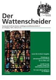 1 / 2013 - Heimat- und Bürgerverein Wattenscheid