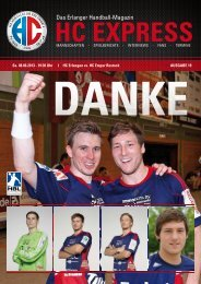 Das Erlanger Handball-Magazin - HC Erlangen