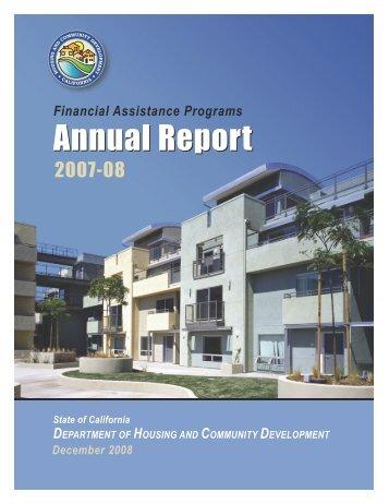 Annual Report Annual Report - California Department of Housing ...