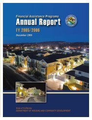 Annual Report, FY 2005/2006 - California Department of Housing ...