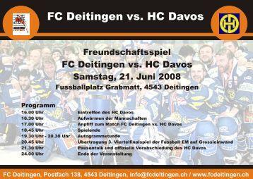 FC Deitingen vs. HC Davos