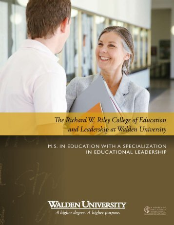 The Richard W. Riley College of Education and Leadership at ...
