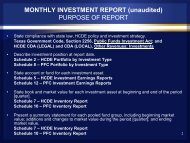 MONTHLY INVESTMENT REPORT - Harris County Department of ...