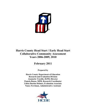 Head Start Community Assessment - Harris County Department of ...