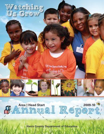 Head Start Area I Annual Report 2009/2010 - Harris County ...