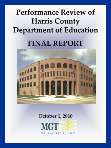 Performance Review of Harris County Department of Education ...