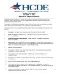 Harris County Department of Education Board Meeting Agenda ... - Page 6