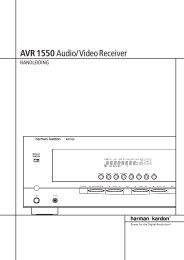 AVR 1550Audio/VideoReceiver - Hci-services.com