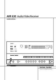 AVR 630 Audio/VideoReceiver - Hci-services.com